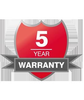 The Suprabeam 5 year guarantee