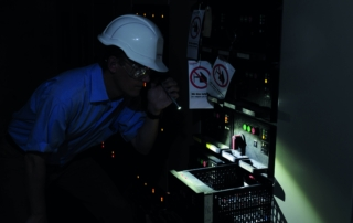 Electrician inspection with professional Q1 penlight