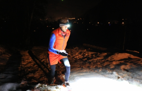 Night trailrunning with Suprabeam V3air rechargeable headlamp