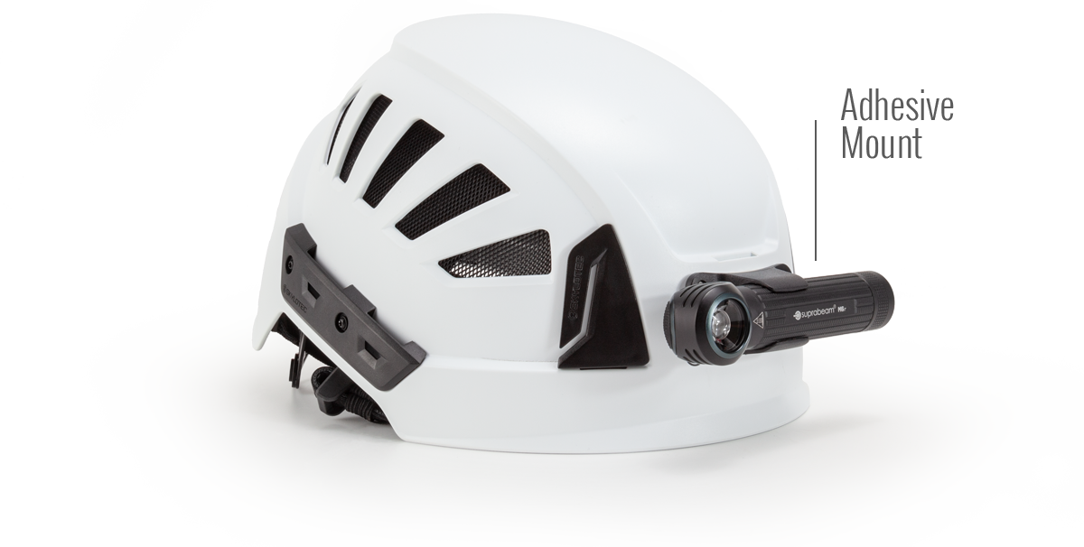 Suprabeam M6xr multilamp mounted on helmet