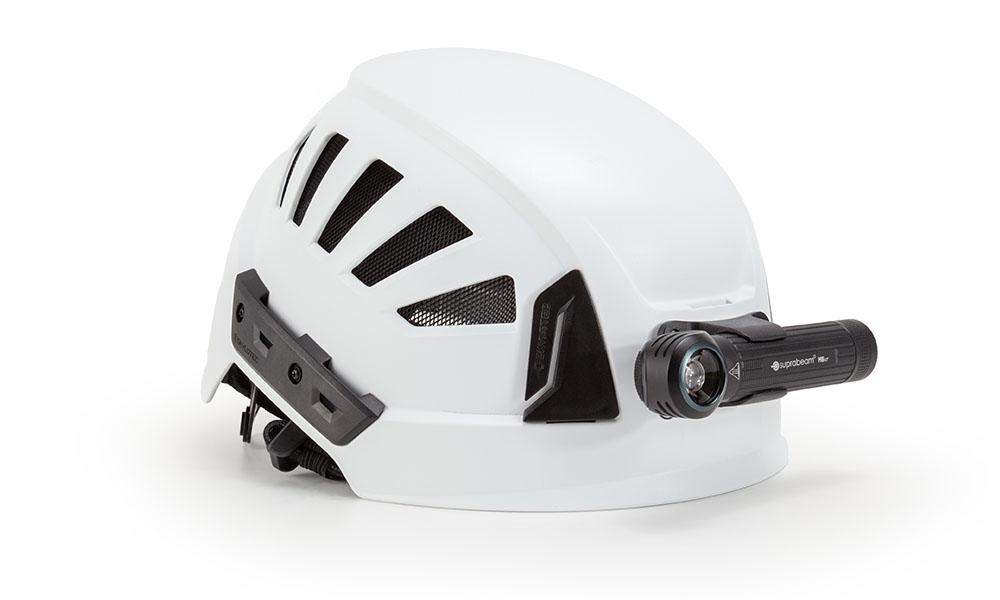Suprabeam M6xr on helmet