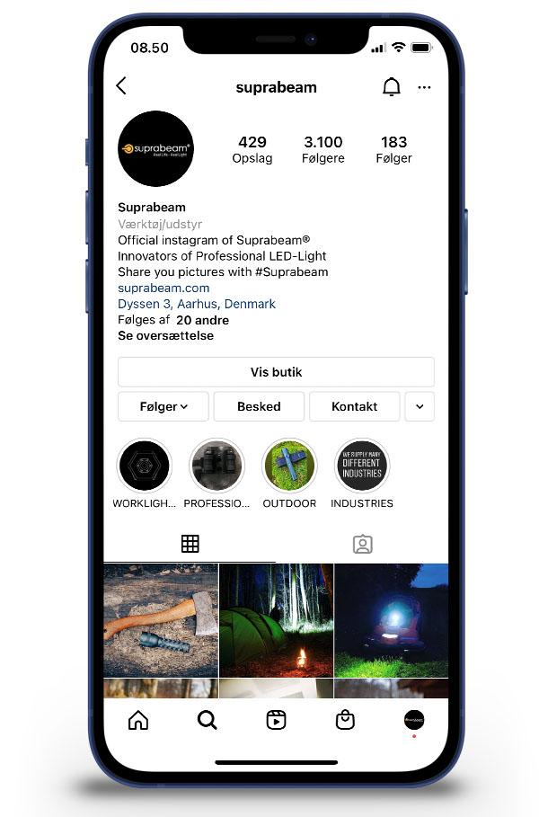 Suprabeam instagram phone